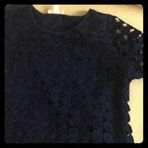 Laser cut polka dot shirt
